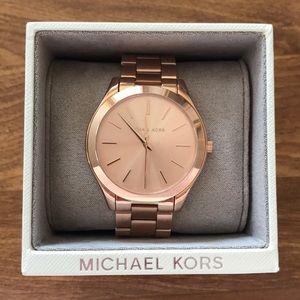 Michael Kors women's runway rose gold-tone watch